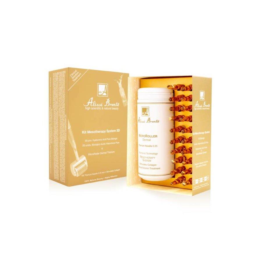 Alissi Brontë Meso Therapy Kit - Titanium Derma Roller + 20 x 2 ml Hyaluronzuur ampullen